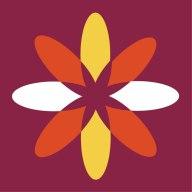 Flower shaped logo